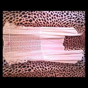 White/Cream- Lace/Chiffon Throw over